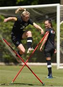 1 August 2019; Eabha O'Mahony during a Republic of Ireland women's team training session at Dignity Health Sports Park in Carson, California, USA. Photo by Cody Glenn/Sportsfile