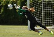 1 August 2019; Grace Moloney during a Republic of Ireland Women's team training session at Dignity Health Sports Park in Pasadena, California, USA. Photo by Cody Glenn/Sportsfile
