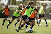 1 August 2019; Niamh Fahey during a Republic of Ireland women's team training session at Dignity Health Sports Park in Carson, California, USA. Photo by Cody Glenn/Sportsfile