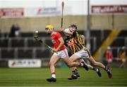 3 August 2019; Seán Twomey of Cork in action against David Blanchfield of Kilkenny during the Bord Gáis GAA Hurling All-Ireland U20 Championship Semi-Final match between Kilkenny and Cork at O'Moore Park in Portlaoise, Laois. Photo by Harry Murphy/Sportsfile