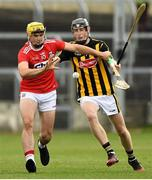 3 August 2019; Sean Twomey of Cork in action against David Blanchfield of Kilkenny during the Bord Gáis GAA Hurling All-Ireland U20 Championship Semi-Final match between Kilkenny and Cork at O'Moore Park in Portlaoise, Laois. Photo by Matt Browne/Sportsfile