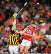 3 August 2019; James Keating of Cork in action against Eoin O'Shea of Kilkenny during the Bord Gáis GAA Hurling All-Ireland U20 Championship Semi-Final match between Kilkenny and Cork at O'Moore Park in Portlaoise, Laois. Photo by Matt Browne/Sportsfile