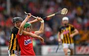 3 August 2019; Brian Turnbull of Cork in action against Mikey Butler of Kilkenny during the Bord Gáis GAA Hurling All-Ireland U20 Championship Semi-Final match between Kilkenny and Cork at O'Moore Park in Portlaoise, Laois. Photo by Harry Murphy/Sportsfile