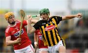 3 August 2019; Eoin Cody of Kilkenny in action against James Keating of Cork during the Bord Gáis GAA Hurling All-Ireland U20 Championship Semi-Final match between Kilkenny and Cork at O'Moore Park in Portlaoise, Laois. Photo by Harry Murphy/Sportsfile