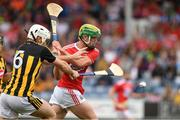 3 August 2019; Brian Roche of Cork in action against Michael Carey of Kilkenny during the Bord Gáis GAA Hurling All-Ireland U20 Championship Semi-Final match between Kilkenny and Cork at O'Moore Park in Portlaoise, Laois. Photo by Matt Browne/Sportsfile