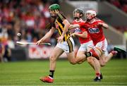 3 August 2019; Eoin Cody of Kilkenny in action against Conor O'Cakkaghan of Cork during the Bord Gáis GAA Hurling All-Ireland U20 Championship Semi-Final match between Kilkenny and Cork at O'Moore Park in Portlaoise, Laois. Photo by Harry Murphy/Sportsfile