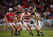 3 August 2019; Ger Collins of Cork in action against Ciarán  Brennan of Kilkenny during the Bord Gáis GAA Hurling All-Ireland U20 Championship Semi-Final match between Kilkenny and Cork at O'Moore Park in Portlaoise, Laois. Photo by Harry Murphy/Sportsfile