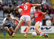3 August 2019; Colm O'Callaghan of Cork shoots to score his side's third goal during the EirGrid GAA Football All-Ireland U20 Championship Final match between Cork and Dublin at O'Moore Park in Portlaoise, Laois. Photo by Harry Murphy/Sportsfile