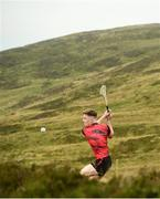 3 August 2019; Cathal Kiely of Offaly during the 2019 M. Donnelly GAA All-Ireland Poc Fada Finals at Annaverna Mountain in the Cooley Peninsula, Ravensdale, Co Louth. Photo by David Fitzgerald/Sportsfile