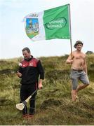 3 August 2019; Brendan Cummins of Tipperary, left, and Robert O'Donnell, from Pallasgreen, Co Limerick during the 2019 M. Donnelly GAA All-Ireland Poc Fada Finals at Annaverna Mountain in the Cooley Peninsula, Ravensdale, Co Louth. Photo by David Fitzgerald/Sportsfile