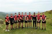 3 August 2019; Competitors, from left, Paddy McKillian, Callum Quirke, Darren Geoghegan, Gareth Johnson, Cathal Kiely, Cillian Kiely, Ronan Taafe, Sean Nugent and Tadhg Haran following the 2019 M. Donnelly GAA All-Ireland Poc Fada Finals at Annaverna Mountain in the Cooley Peninsula, Ravensdale, Co Louth. Photo by David Fitzgerald/Sportsfile