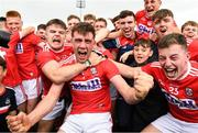 3 August 2019; Cork captain Peter O'Driscoll celebrates with his team-mates after the EirGrid GAA Football All-Ireland U20 Championship Final match between Cork and Dublin at O'Moore Park in  Portlaoise, Laois. Photo by Matt Browne/Sportsfile