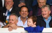 3 August 2019; An Taoiseach Leo Varadkar TD prior to the GAA Football All-Ireland Senior Championship Quarter-Final Group 1 Phase 3 match between Meath and Kerry at Páirc Tailteann in Navan, Meath. Photo by Stephen McCarthy/Sportsfile