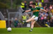 3 August 2019; Brian Ó Beaglaoich of Kerry shoots to score his side's first goal during the GAA Football All-Ireland Senior Championship Quarter-Final Group 1 Phase 3 match between Meath and Kerry at Páirc Tailteann in Navan, Meath. Photo by Stephen McCarthy/Sportsfile
