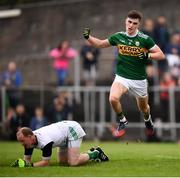 3 August 2019; Seán O'Shea of Kerry celebrates after scoring his side's second goal during the GAA Football All-Ireland Senior Championship Quarter-Final Group 1 Phase 3 match between Meath and Kerry at Páirc Tailteann in Navan, Meath. Photo by Stephen McCarthy/Sportsfile