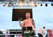 3 August 2019; Paddy Barnes after defeating Joel Sanchez during their bantamweight bout at Falls Park in Belfast. Photo by Ramsey Cardy/Sportsfile