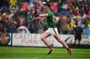 3 August 2019; Cillian O'Connor of Mayo celebrates after scoring his side's first goal during the GAA Football All-Ireland Senior Championship Quarter-Final Group 1 Phase 3 match between Mayo and Donegal at Elvery's MacHale Park in Castlebar, Mayo. Photo by Brendan Moran/Sportsfile