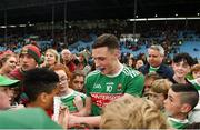 3 August 2019; Fionn McDonagh of Mayo signs autographs after the GAA Football All-Ireland Senior Championship Quarter-Final Group 1 Phase 3 match between Mayo and Donegal at Elvery's MacHale Park in Castlebar, Mayo. Photo by Daire Brennan/Sportsfile