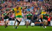 3 August 2019; Michael Murphy of Donegal scores his side's first goal from a penalty during the GAA Football All-Ireland Senior Championship Quarter-Final Group 1 Phase 3 match between Mayo and Donegal at Elvery's MacHale Park in Castlebar, Mayo. Photo by Brendan Moran/Sportsfile