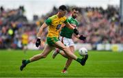3 August 2019; Michael Langan of Donegal in action against Aidan O'Shea of Mayo during the GAA Football All-Ireland Senior Championship Quarter-Final Group 1 Phase 3 match between Mayo and Donegal at Elvery's MacHale Park in Castlebar, Mayo. Photo by Brendan Moran/Sportsfile