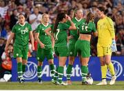 3 August 2019; Republic of Ireland goalkeeper Marie Hourihan speaks to team-matesafter conceding their opening goal during the Women's International Friendly match between USA and Republic of Ireland at Rose Bowl in Pasadena, California, USA. Photo by Cody Glenn/Sportsfile