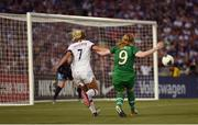 3 August 2019; Amber Barrett of Republic of Ireland has a shot on goal during the Women's International Friendly match between USA and Republic of Ireland at Rose Bowl in Pasadena, California, USA. Photo by Cody Glenn/Sportsfile
