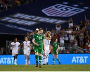 3 August 2019; Amber Barrett of Republic of Ireland reacts after her side conceded a second goal their during the Women's International Friendly match between USA and Republic of Ireland at Rose Bowl in Pasadena, California, USA. Photo by Cody Glenn/Sportsfile