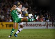 3 August 2019; Katie McCabe of Republic of Ireland and Emily Sonnett of USA during the Women's International Friendly match between USA and Republic of Ireland at Rose Bowl in Pasadena, California, USA. Photo by Cody Glenn/Sportsfile