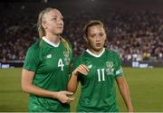 3 August 2019; Louise Quinn, left, and Katie McCabe of Republic of Ireland following the Women's International Friendly match between USA and Republic of Ireland at Rose Bowl in Pasadena, California, USA. Photo by Cody Glenn/Sportsfile