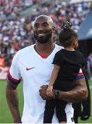 3 August 2019; Retired NBA star Kobe Bryant and daughter Bianka Bella prior to the Women's International Friendly match between USA and Republic of Ireland at Rose Bowl in Pasadena, California, USA. Photo by Cody Glenn/Sportsfile
