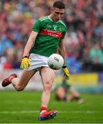 3 August 2019; Fionn McDonagh of Mayo during the GAA Football All-Ireland Senior Championship Quarter-Final Group 1 Phase 3 match between Mayo and Donegal at Elvery's MacHale Park in Castlebar, Mayo. Photo by Brendan Moran/Sportsfile