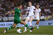 3 August 2019; Katie McCabe of Republic of Ireland and Rose Lavelle of USA during the Women's International Friendly match between USA and Republic of Ireland at Rose Bowl in Pasadena, California, USA. Photo by Cody Glenn/Sportsfile