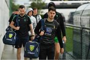 3 August 2019; Ryan McHugh of Donegal arrives prior to the GAA Football All-Ireland Senior Championship Quarter-Final Group 1 Phase 3 match between Mayo and Donegal at Elvery's MacHale Park in Castlebar, Mayo. Photo by Brendan Moran/Sportsfile