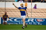 4 August 2019; Jake Morris of Tipperary celebrates a score during the Bord Gáis GAA Hurling All-Ireland U20 Championship Semi-Final match between Tipperary and Wexford at Nowlan Park in Kilkenny. Photo by David Fitzgerald/Sportsfile