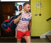 4 August 2019; Cork player Brian Hurley arrives with his team-mates before the GAA Football All-Ireland Senior Championship Quarter-Final Group 2 Phase 3 match between Cork and Roscommon at Páirc Uí Rinn in Cork. Photo by Matt Browne/Sportsfile