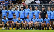 4 August 2019; The Dublin team stand for a team photograph prior to the GAA Football All-Ireland Senior Championship Quarter-Final Group 2 Phase 3 match between Tyrone and Dublin at Healy Park in Omagh, Tyrone. Photo by Brendan Moran/Sportsfile