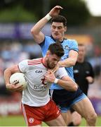 4 August 2019; Declan McClure of Tyrone in action against Diarmuid Connolly of Dublin during the GAA Football All-Ireland Senior Championship Quarter-Final Group 2 Phase 3 match between Tyrone and Dublin at Healy Park in Omagh, Tyrone. Photo by Oliver McVeigh/Sportsfile
