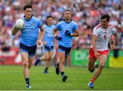 4 August 2019; Diarmuid Connolly of Dublin in action against Darren McCurry of Tyrone during the GAA Football All-Ireland Senior Championship Quarter-Final Group 2 Phase 3 match between Tyrone and Dublin at Healy Park in Omagh, Tyrone. Photo by Brendan Moran/Sportsfile