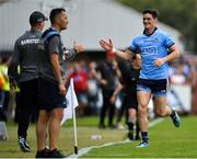 4 August 2019; Diarmuid Connolly of Dublin leaves the pitch after being shown a black card during the GAA Football All-Ireland Senior Championship Quarter-Final Group 2 Phase 3 match between Tyrone and Dublin at Healy Park in Omagh, Tyrone. Photo by Brendan Moran/Sportsfile