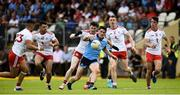 4 August 2019; Diarmuid Connolly of Dublin in action against Michael McKernan Darren McCurry, Rory Brennan Ben McDonnell and David Mulgrew of Tyrone during the GAA Football All-Ireland Senior Championship Quarter-Final Group 2 Phase 3 match between Tyrone and Dublin at Healy Park in Omagh, Tyrone. Photo by Oliver McVeigh/Sportsfile