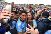 4 August 2019; Bernard Brogan of Dublin trying to get off the field after the GAA Football All-Ireland Senior Championship Quarter-Final Group 2 Phase 3 match between Tyrone and Dublin at Healy Park in Omagh, Tyrone. Photo by Oliver McVeigh/Sportsfile