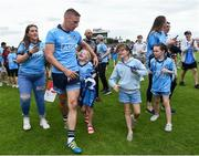 4 August 2019; Eoghan O'Gara of Dublin comes off the field with some young supporters after the GAA Football All-Ireland Senior Championship Quarter-Final Group 2 Phase 3 match between Tyrone and Dublin at Healy Park in Omagh, Tyrone. Photo by Oliver McVeigh/Sportsfile