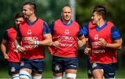 5 August 2019; Sergio Parisse, centre, and team-mates during an Italy Rugby training session at the University of Limerick in Limerick. Photo by David Fitzgerald/Sportsfile