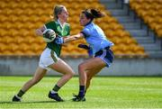 5 August 2019; Julie O'Sullivan of Kerry in action against Niamh McEvoy of Dublin during the TG4 All-Ireland Ladies Football Senior Championship Quarter-Final match between Dublin and Kerry at Bord na Móna O'Connor Park in Tullamore, Offaly. Photo by Piaras Ó Mídheach/Sportsfile