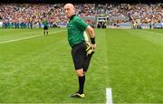30 June 2019; Referee John Keenan before the Leinster GAA Hurling Senior Championship Final match between Kilkenny and Wexford at Croke Park in Dublin. Photo by Ray McManus/Sportsfile