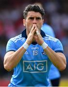 4 August 2019; Bernard Brogan of Dublin during the GAA Football All-Ireland Senior Championship Quarter-Final Group 2 Phase 3 match between Tyrone and Dublin at Healy Park in Omagh, Tyrone. Photo by Brendan Moran/Sportsfile