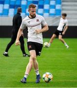 6 August 2019; Sean Hoare during a Dundalk training session at Tehelné pole Stadium in Bratislava, Slovakia. Photo by Vid Ponikvar/Sportsfile