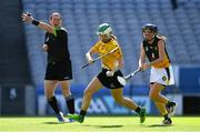 2 August 2019; Claire Walsh of Middle East, left, in action against Keira Kinahan Murphy of Australasia, in the Renault GAA World Games Camogie Irish Cup Final during the Renault GAA World Games 2019 Day 5 - Cup Finals at Croke Park in Dublin. Photo by Piaras Ó Mídheach/Sportsfile