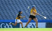 2 August 2019; Alison Dooley of Middle East, right, in action against Karen Jones of Australasia in the Renault GAA World Games Camogie Irish Cup Final during the Renault GAA World Games 2019 Day 5 - Cup Finals at Croke Park in Dublin. Photo by Piaras Ó Mídheach/Sportsfile