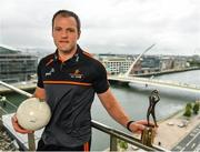 7 August 2019; PwC GAA/GPA Players of the Month for July, footballer Michael Murphy of Donegal, and hurler Patrick Horgan of Cork, were at PwC offices in Dublin today to pick up their respective awards. The players were joined by PwC's Ronan Finn, Uachtarán Cumann Lúthchleas Gael, John Horan, and GPA Chief Executive, Paul Flynn. Pictured is Michael Murphy of Donegal with his award at PwC, Spencer Dock, North Wall Quay, Dublin. Photo by Seb Daly/Sportsfile
